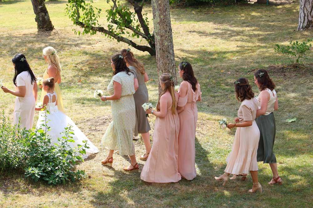 Mariage exterieur dans un domaine en Ile de France