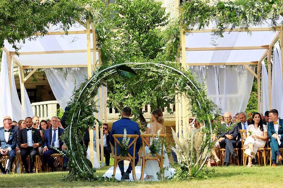 Cérémonie laique de mariage dans un domaine en Ile de France