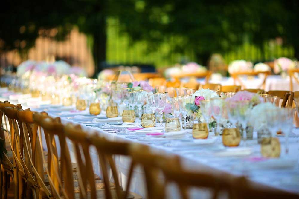 Table de mariage dans un domaine en Yveline